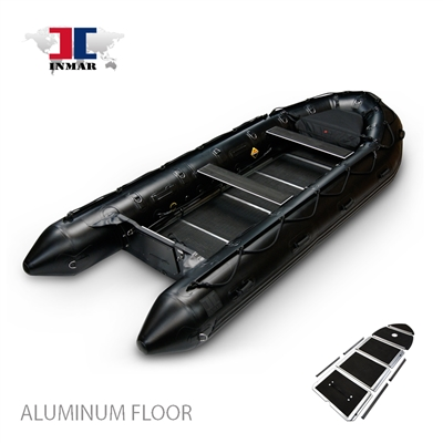 INMAR-380-MIL-aluminum, floor-Military-Series-Inflatable-Boat