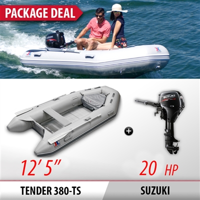 INMAR, 380H, TS, 12' 6'' Air, Floor, Tender, Inflatable, Boat