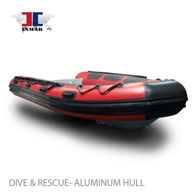 inmar aluminum floor 420R red dive and rescue
