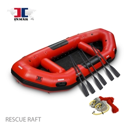 RESCUE INMAR Rescue Raft 14' 0'', comes with an oversized carry bag, and a high pressure air pump