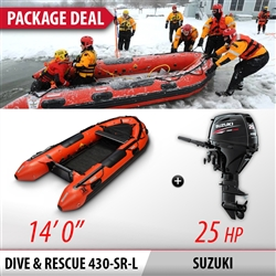 INMAR, 430-RS-L, 14' Air, Floor, search and rescue, Inflatable, Boat, outboard, package