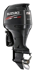 "Suzuki 150hp DF150TX, 4-stroke, 25"" XLong Shaft - Electric Start - Remote Steering"