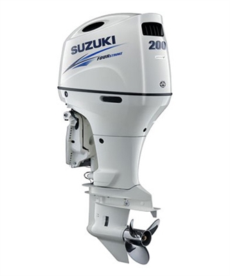 "Suzuki 200hp DF200ATLW, 4-stroke, 20"" Long Shaft - Electric Start - Remote Steering - Select Rotation - PTT"