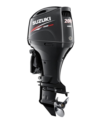 "Suzuki 200hp DF200ATX, 4-stroke, 25"" Long Shaft - Electric Start - Remote Steering - Select Rotation - PTT"
