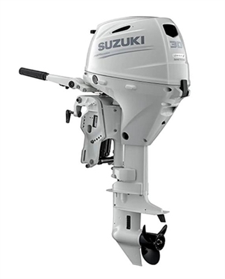 "Suzuki 30hp DF30ATHLW, 4-stroke, 20"" Long Shaft - Electric Start - Tiller Handle"