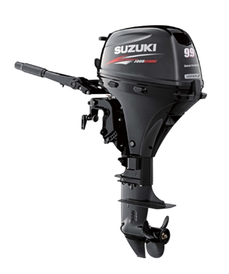 "Suzuki DF9.9BES, 4-stroke 9.9hp, Tiller handle, Manual Start, 20""  Shaft"