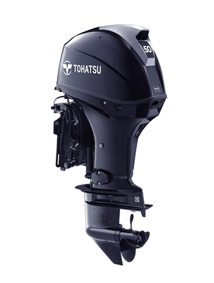 "50 hp Tohatsu MFS50AETS Four-Stroke, 15"" Shaft - Electric Start - Tiller or Remote - Power Trim & Tilt"